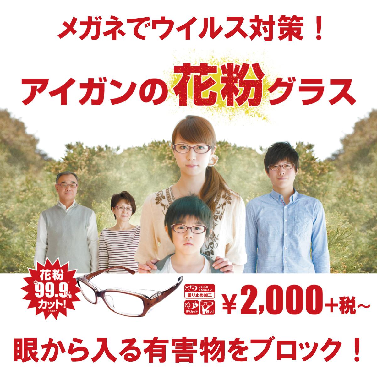 メガネのアイガン 【好評発売中】花粉対策グラス:イメージ