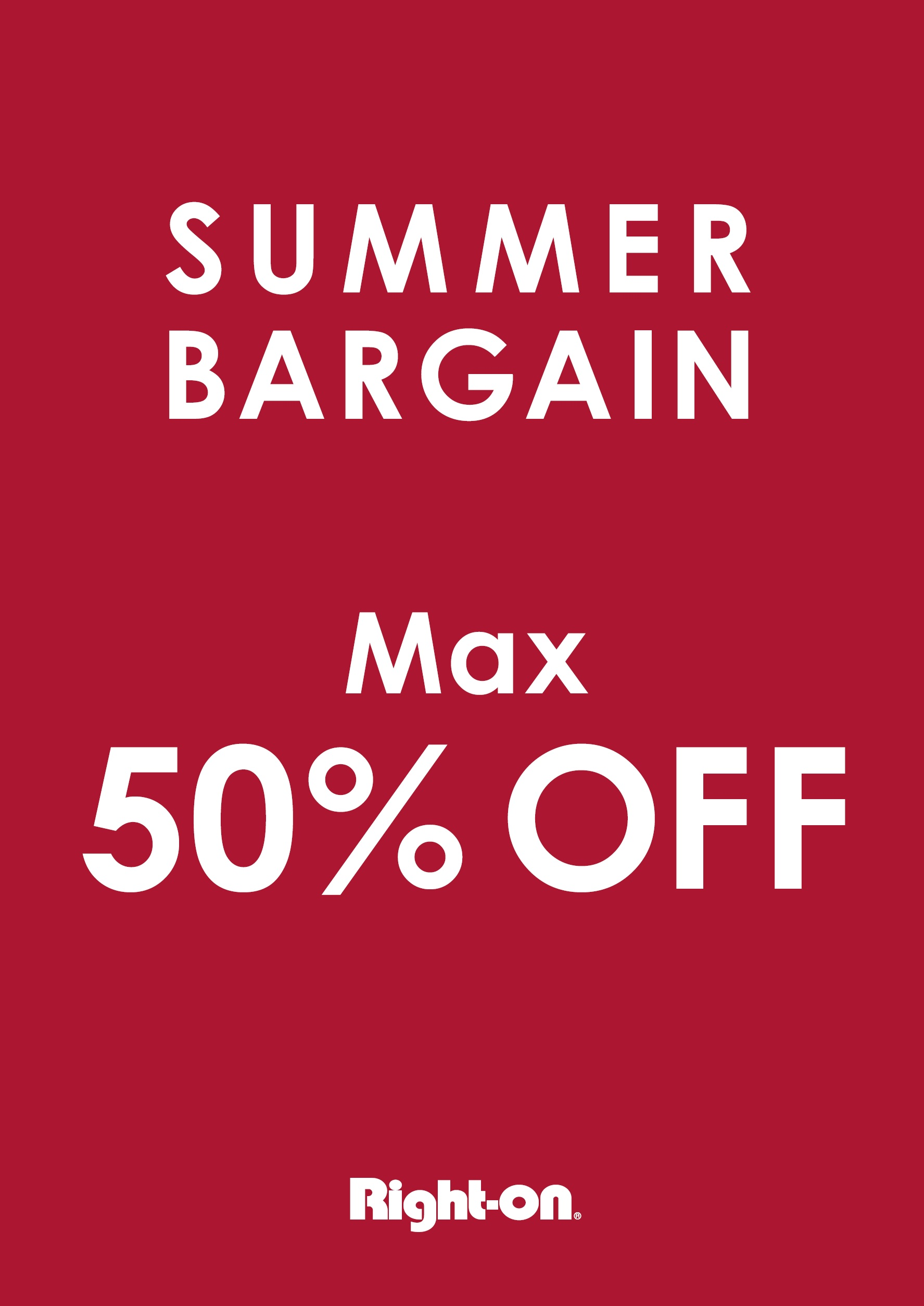 SUMMER BARGAIN Max 50%OFF:イメージ