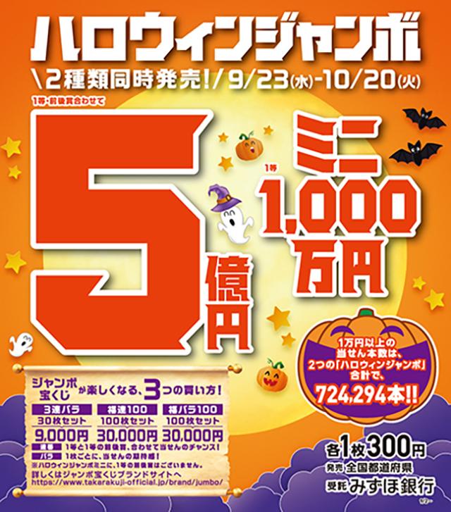 ハロウィンジャンボ宝くじ発売:イメージ
