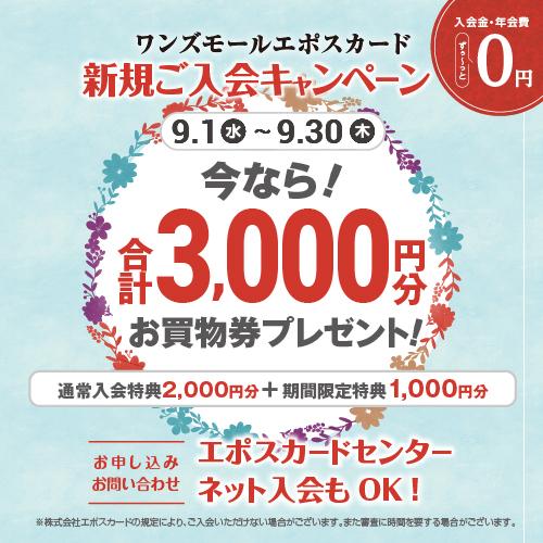 ワンズモールエポスカード 新規ご入会キャンペーン